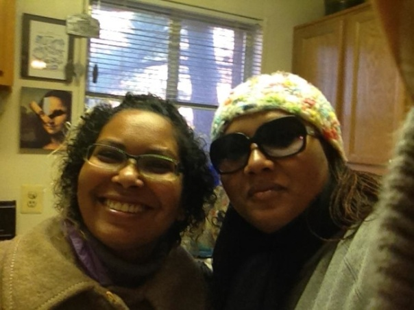 Paulette Beete and Deborah Beete on Christmas Eve 2011