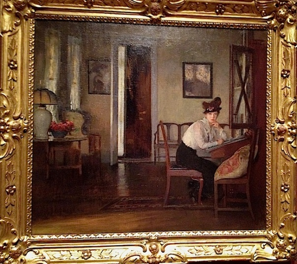 Girl Writing by Edmund Tarbell